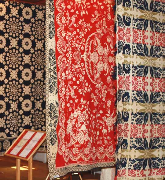 Alling Museum coverlets
